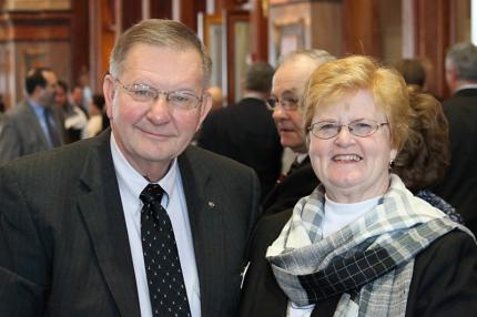 Curt and his wife, Diane Hanson