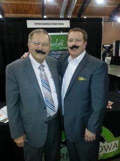 Curt and Rustin with World Record Fairfield fake mustaches February 2014
